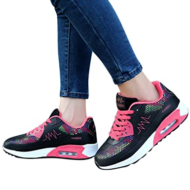 c5a3f4657da1a Amazon.com: Sharemen Women's Fashion Casual Lace Up Breathable Sport ...