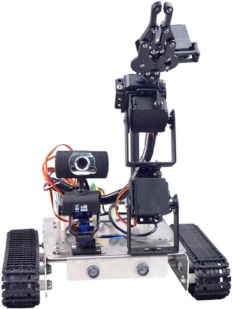 Fasiy Programable Robot para Raspberry pi 4, Smart Robot Car Kit con WiFi, Bluetooth y Detectores de Obstáculos, Compatible con Arduino / 51duino/ Raspberry pi