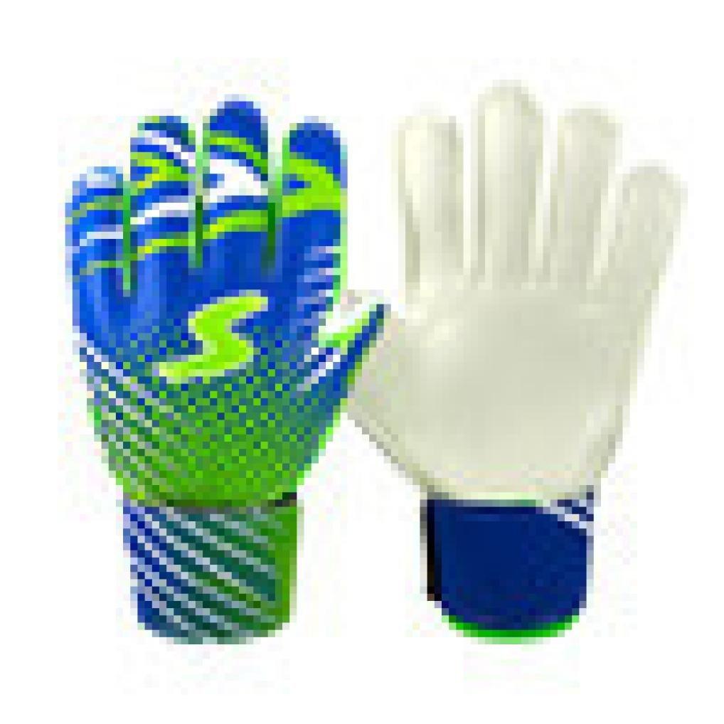 Fineserプロサッカーゴールキーパーグローブ、指保護Goalie Gloves for Kids B07BV4LSH5 ブルー ブルー