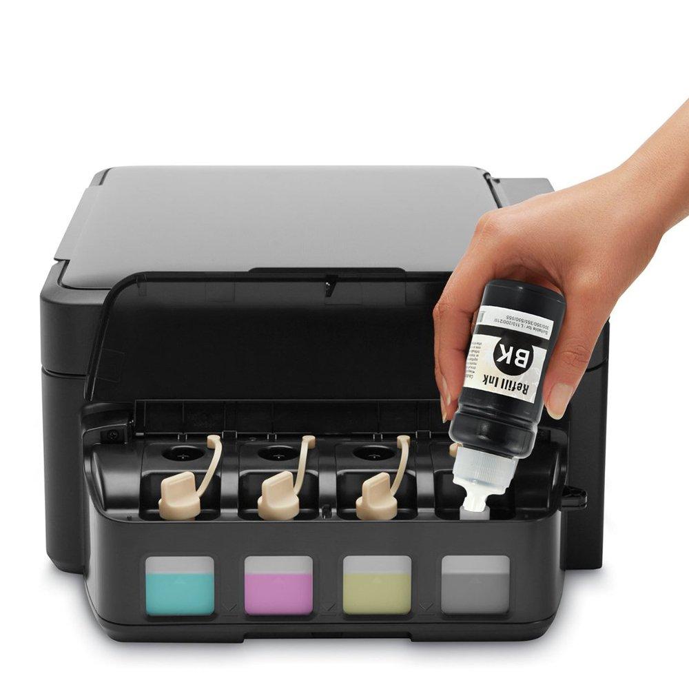 starink Epson T664 botellas de tinta T6641 T6642, T6643 T6644 Compatible para Epson EcoTank L355 Ecotank L130 L300 L310, L555 L565 ET-2500 ET-2550 ...