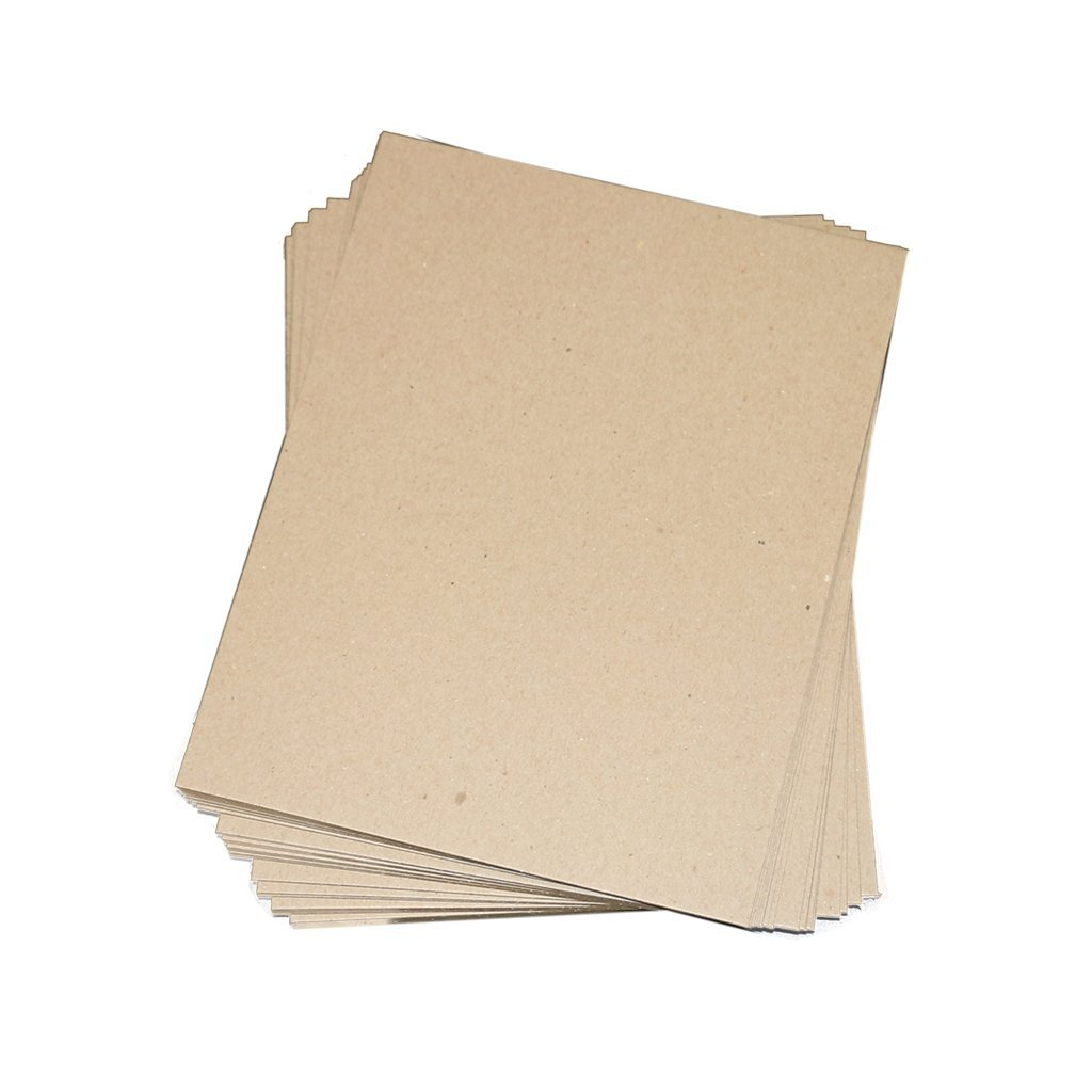 """.050/"""" Thick Scrapbooking Sheets Chipboard Pads 25 Pack 8.5x11 50pt Point Secure Seal Distributed by Shipping Depot"""