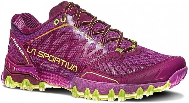 La Sportiva Bushido Woman, Zapatillas de Trail Running Unisex Adulto, Multicolor (Plum/Apple Green 000), 38 EU: Amazon.es: Zapatos y complementos