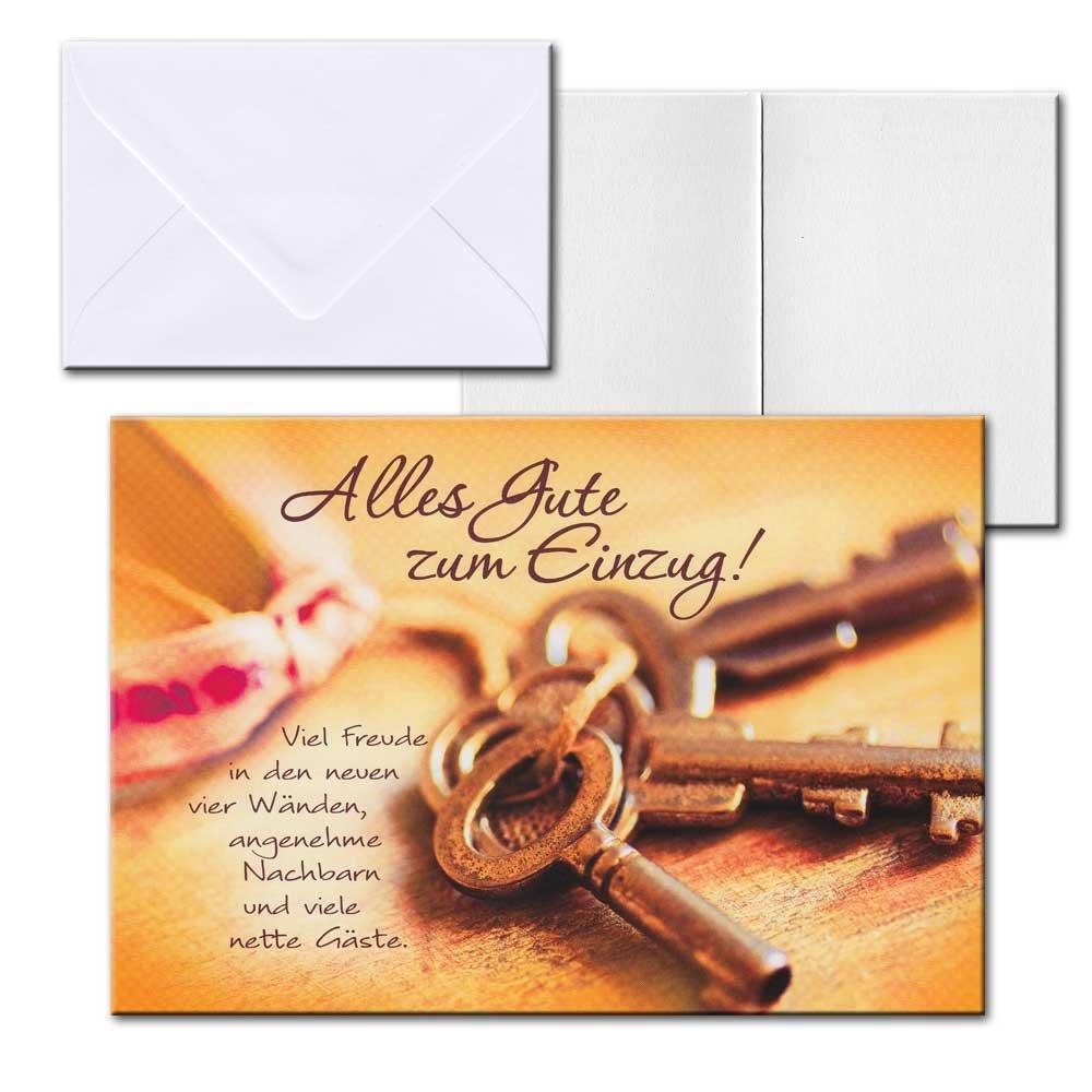 Cartolini Aufklappkarte Karte Sprüche Zitate Briefumschlag Einzug Schlüssel  17,5x12 Cm: Amazon.de: Bürobedarf U0026 Schreibwaren