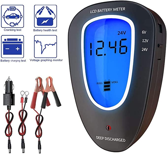 12V Plug in Car Battery and Charging System Tester LCD Display Test Battery Condition /& Alternator Charging