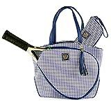 Cassanova Houndstooth Tennis Bag in Saphire