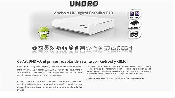 Receptor Satélite QviArt UNDRO: Amazon.es: Electrónica