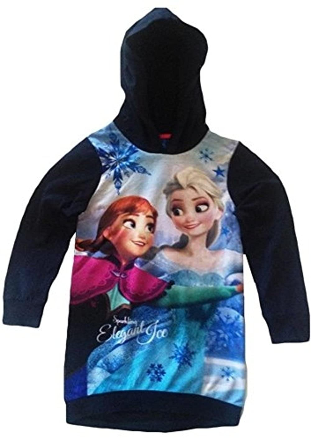 Disney Girls Frozen Licensed Sweatshirt/Hoodie Navy Blue) Sun City