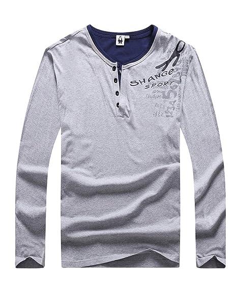 Gladiolus Camiseta básica para Hombre Polo de Manga Larga Algodón ...