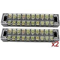 SODIAL(R) 10 Polos Conector Tiras de Terminales Bloque