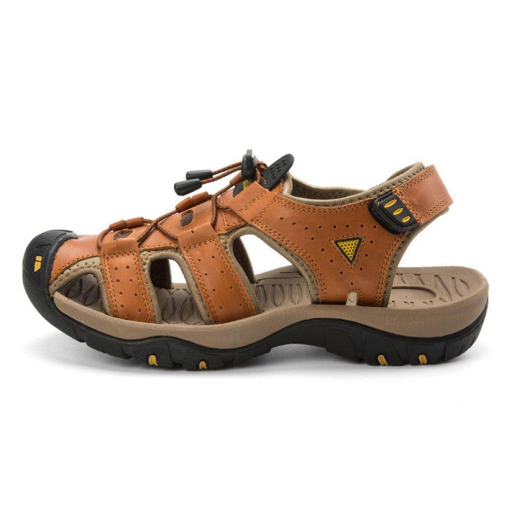 Zapatos De Playa Baotou De La Moda De Verano Zapatos Casuales Antideslizantes De Los Hombres Sandalias De Joker 41 EU|Brown