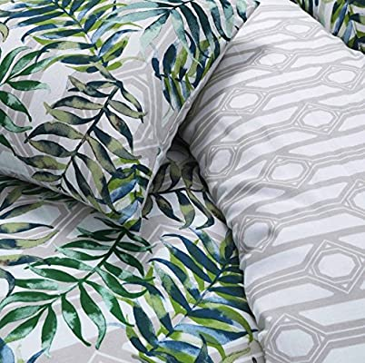 Palm Leaf Luxurious Modern Style Duvet Covers Reversible Bedding Sets Pieridae