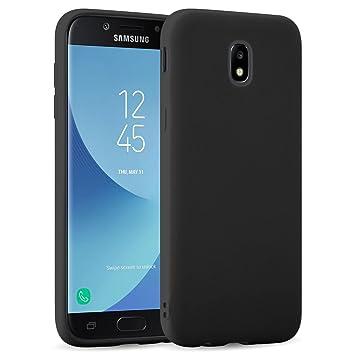 Funda Galaxy J5 2017, JAMMYLIZARD Carcasa TPU Ultra Fina Goma De Silicone [ Jelly Case ] Back Cover Case Para Samsung Galaxy J5 2017, NEGRO