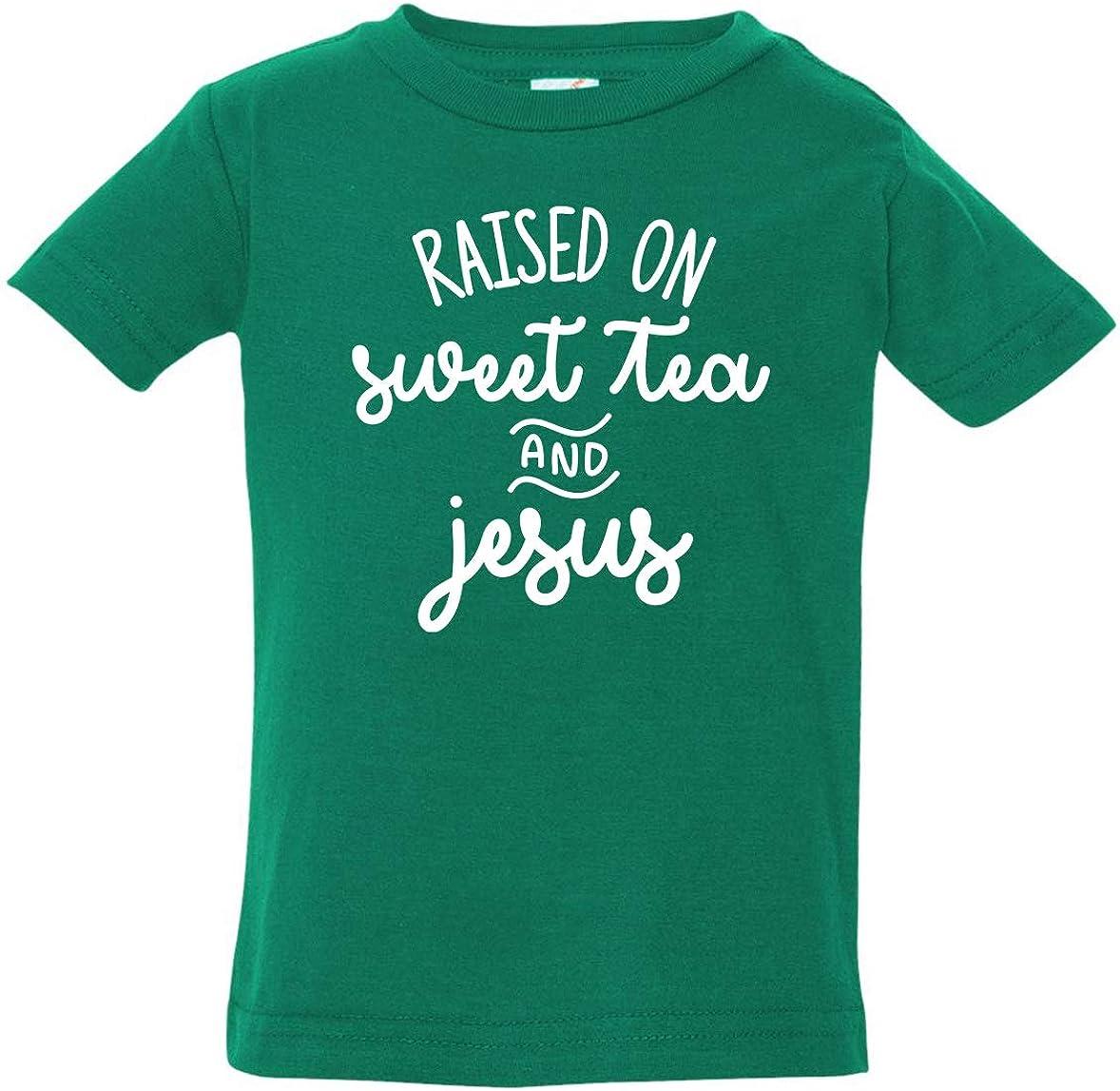 Tenacitee Babys Raised on Sweet Tea and Jesus Shirt