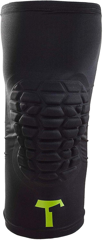 XL T1TAN Knee Guard Kniesch/ützer mit Kompression XXS Torwart Anti-Rutsch Knieschoner Knie Protektor schwarz Gr