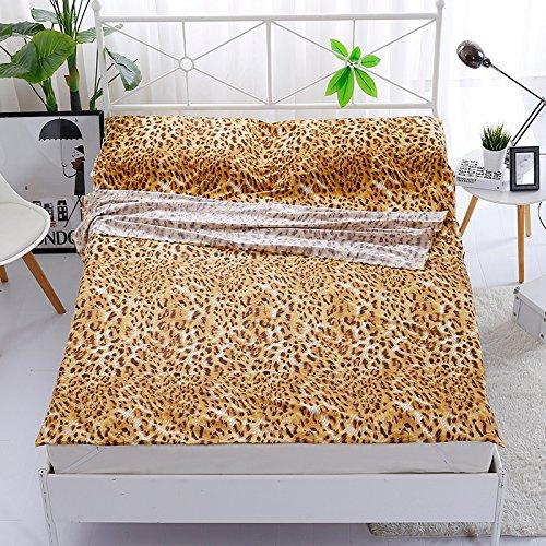 Zhiyuan Leopard - Saco de dormir para cama (100% algodón), diseño ...