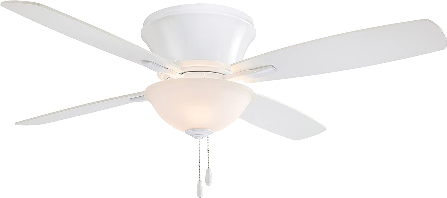 Minka-Aire F533-WH Protruding Mount, 4 White Blades Ceiling fan with 63 watts light, White