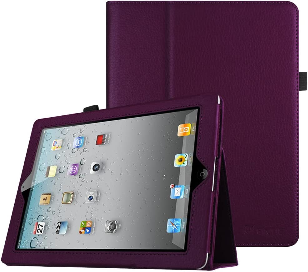 Fintie Folio Case for iPad 2 3 4 (Old Model) 9.7 inch Tablet - Slim Fit Smart Stand Protective Cover Auto Sleep/Wake for iPad 2, iPad 3rd gen & iPad 4th Generation with Retina Display, Purple