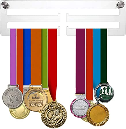 Medal Display Hanger Holder BADMINTON Black Acrylic /& FREE POST