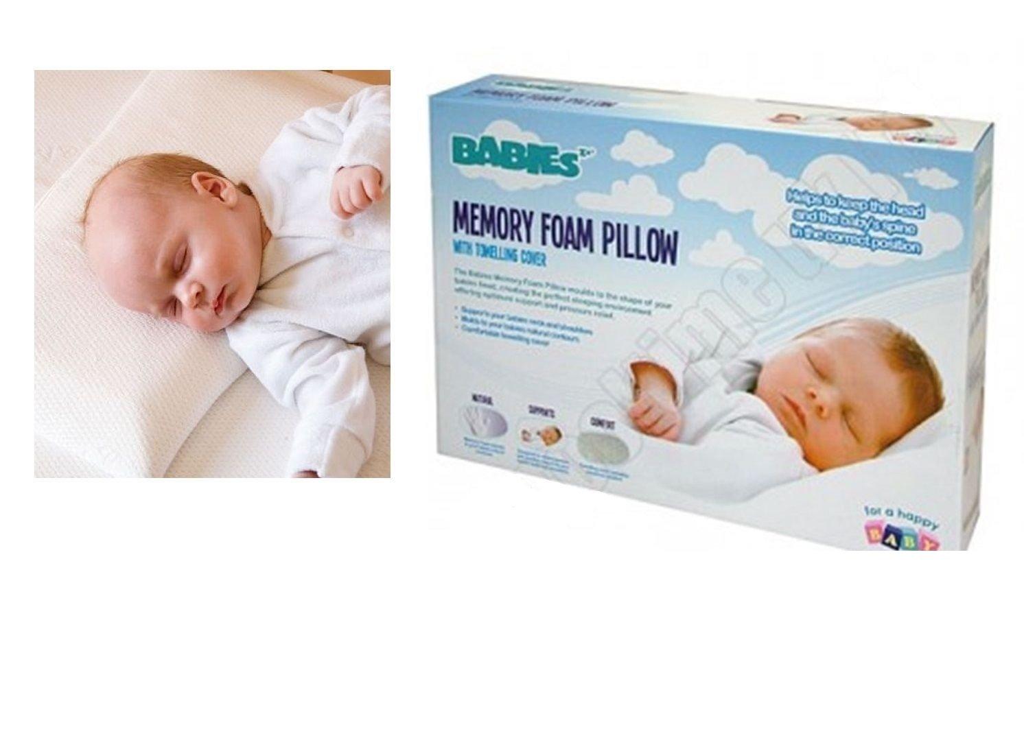 Almohada de espuma con efecto memoria para bebé bebés bebé saco de dormir seguridad cabeza soporte cuna juego de cama de Lizzy®: Amazon.es: Bebé