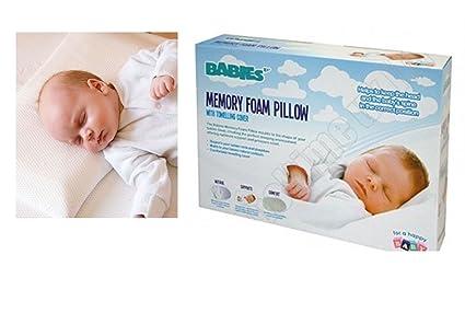 Almohada de espuma con efecto memoria para bebé bebés bebé saco de dormir seguridad cabeza soporte