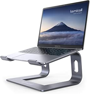 Laptop Stand, Lamicall Laptop Riser Holder : Ergonomic Detachable Aluminum Computer Notebook Stand Elevator for Desk, Compatible with MacBook Air Pro, Dell XPS, HP (10-15.6'')