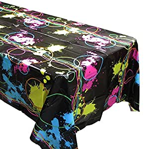 Amazon Com Blue Orchards Glow Party Tablecovers 2 Glow Birthdays