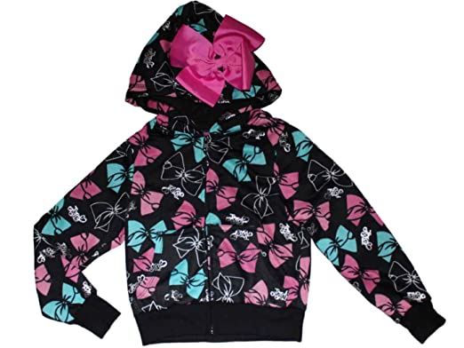 5a1c595eb64 Amazon.com  JoJo Siwa Signature Bow Hooded Sweatshirt Girls 4-16 ...