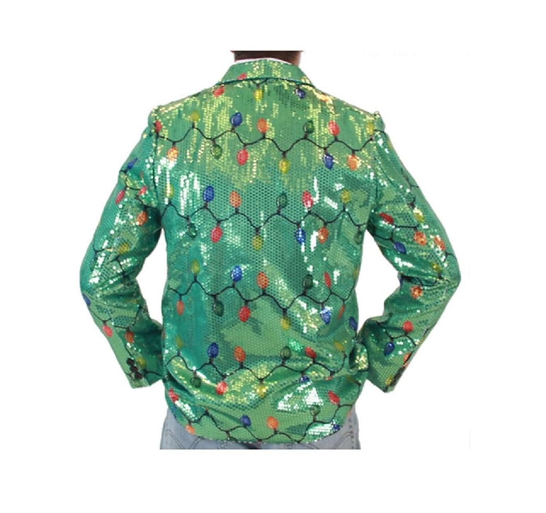 amazoncom sequin christmas lights green ugly christmas suit jacket clothing - Christmas Jackets