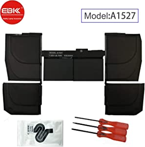 """EBKK A1527 A1534 Replacement A1705 Early 2015 2016 Mid 2017 EMC 2746 Battery for MacBook Retina 12"""" MF855LL/A MK4M2CH/A MK4M2LL/A MNYG2LL/A MF855CH/A MF865CH/A MF865LL/A MJY42CH/A MJY32LL/A 661-02267"""