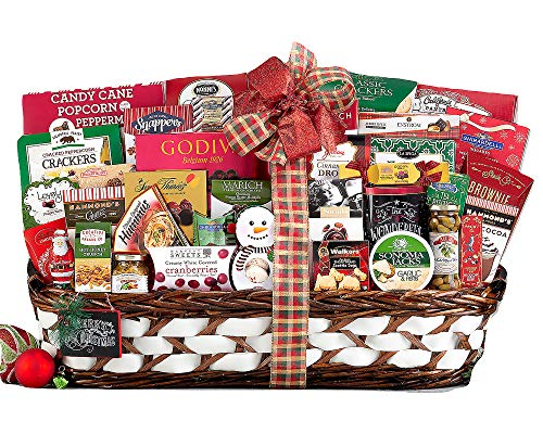 Holiday Extravaganza Gift Holiday Basket. Perfect For Corporate Gift Baskets, Family Gift Baskets, Celebration Gift Baskets. The Ultimate Gift Basket For Father's Day or Christmas Day.