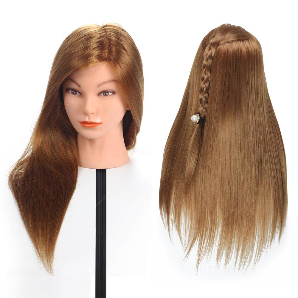 Mannequin Head Dummy Mannequin Hairdresser Mannequin Head Professional Styling Head Wig Head with Natural Animal Fiber Hair K0061