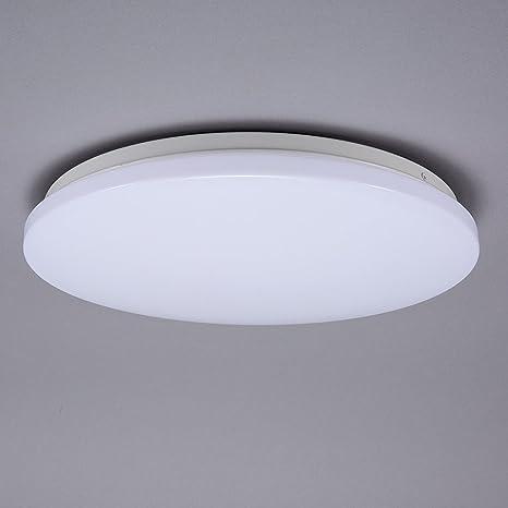 Lámpara de techo LED de Ruicercon 12 W y detector de movimiento, 360 grados,