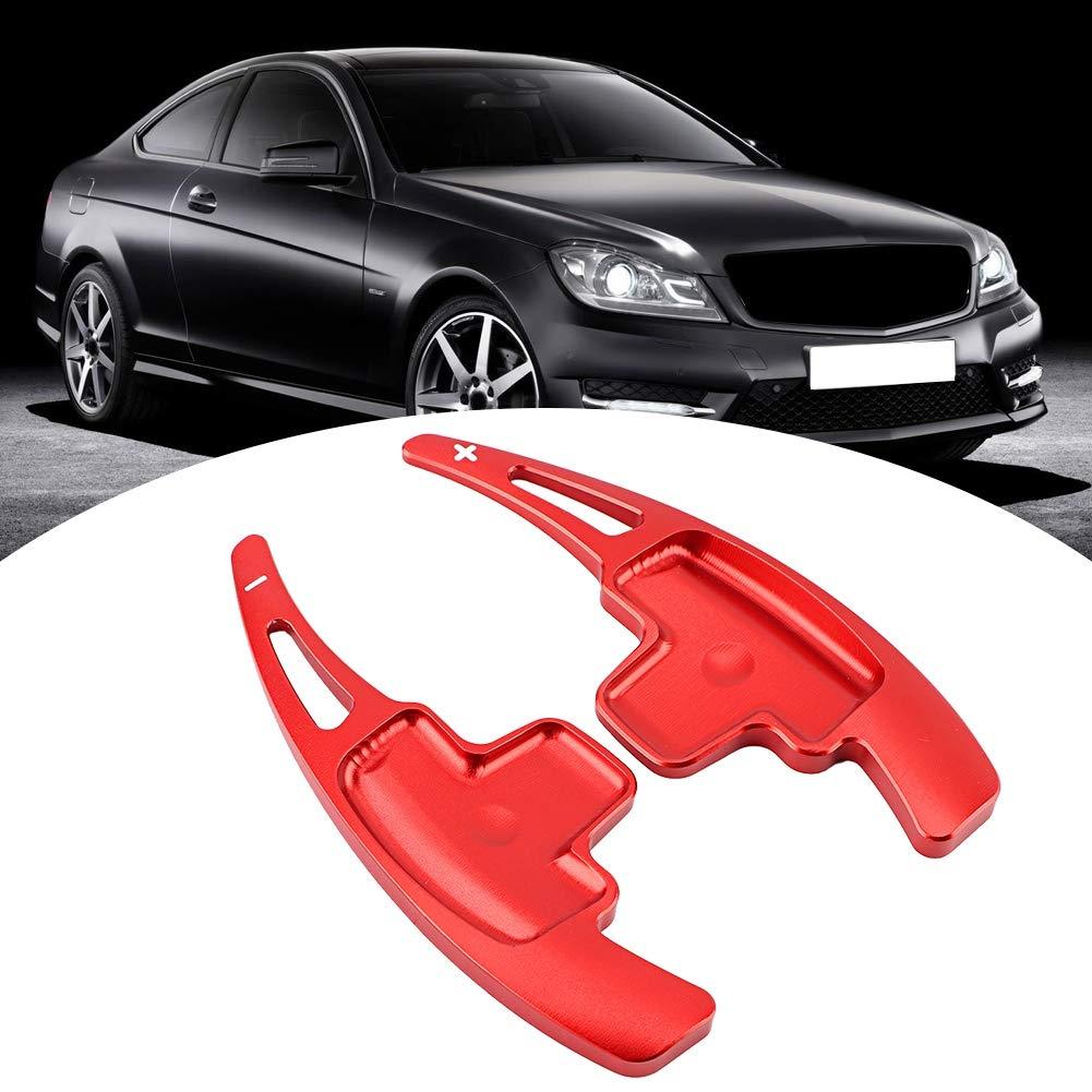 estensioni del coperchio della leva del cambio in alluminio per la classe A B E R M Red Estensioni per il volante del cambio del volante dellautomobile