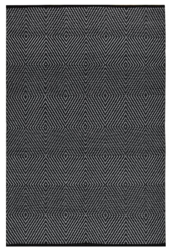 Fab Habitat Reversible Cotton Area Rugs Rugs for Living Room, Bathroom Rug, Kitchen Rug Zen – Dark Blue Bright White 6 x 9