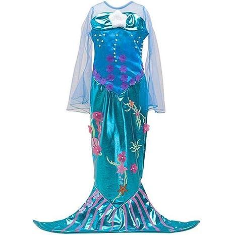 Kinder Kostüm Meerjungfrau Mermaid Kleid Mädchen, Verkleidung, Fasching, Karneval, Blau Türkis
