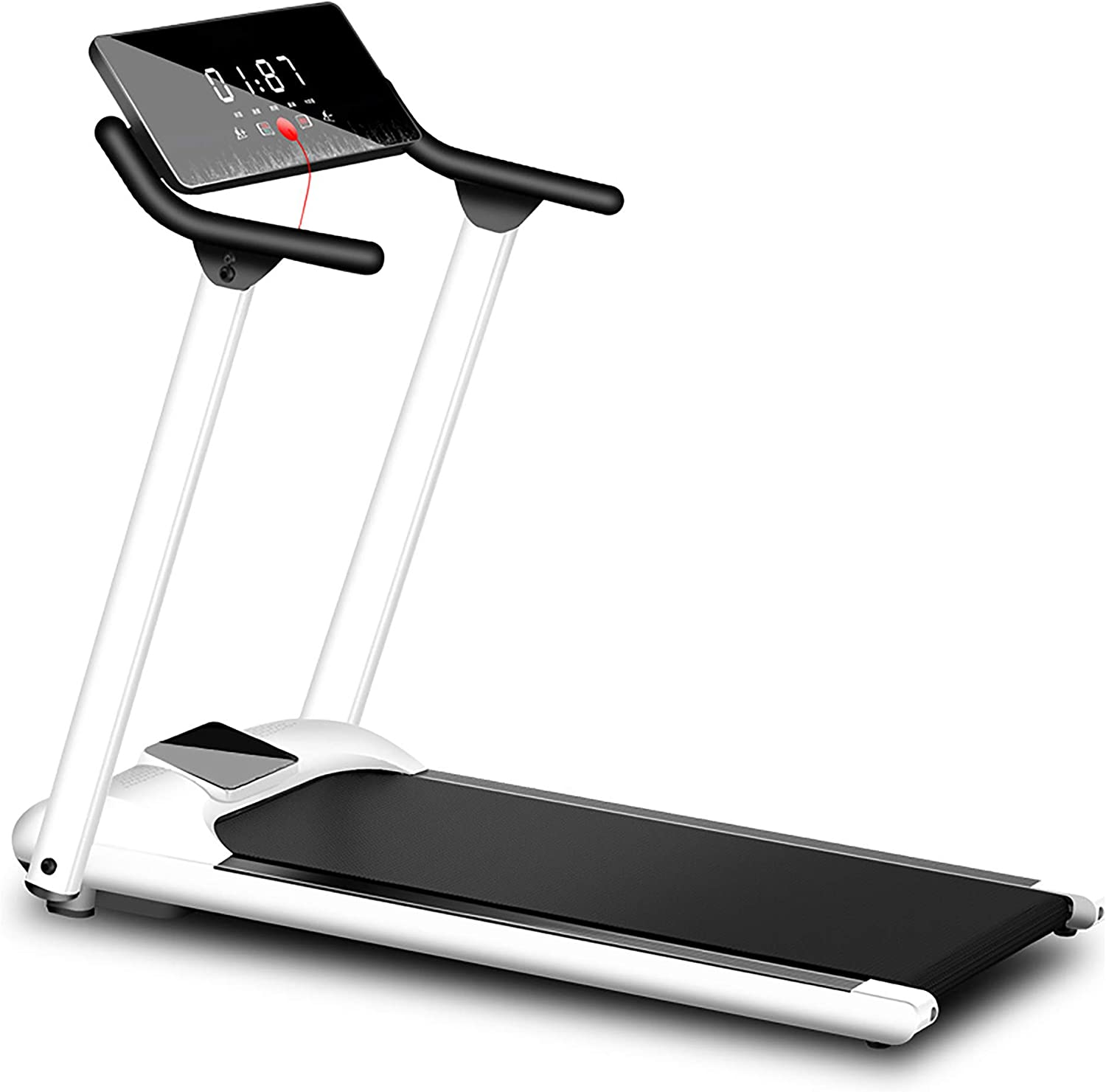 Treadmills for Home Foldable, 3.25Hp App Control Electric Folding Treadmills, Exercise Machine with Automatic Incline, Running Walking Machine for Office/Gym Cardio Use