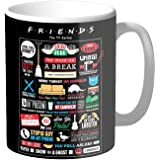 Mugs4You Friends Tv Series Coffee Mug, Glossy Finish Vibrant Print [400 Ml Capacity ] Multicolor
