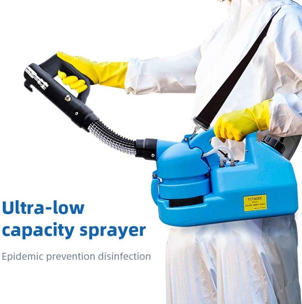 El pulverizador ULV eléctrica portátil Ultra Capacidad Fogger máquina Desinfección Máquina Fogger del Asesino del Mosquito de desinfección de Interior/Exterior Higiene ZHW345