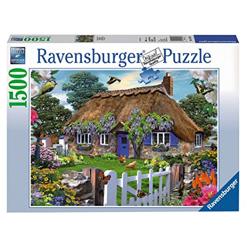 Ravensburger Cottage in England Puzzle (1500-Piece) Cottage 1000pc Jigsaw Puzzle