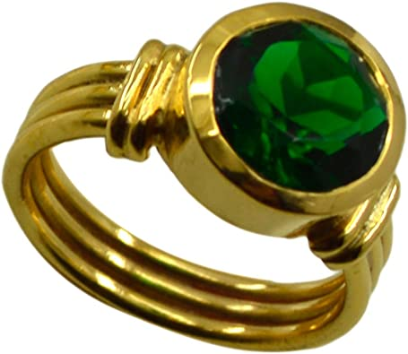Jewelryonclick Indian Emerald CZ Gold Plated Wedding Rings for Women Cluster Style Fashion Jewelry Gift