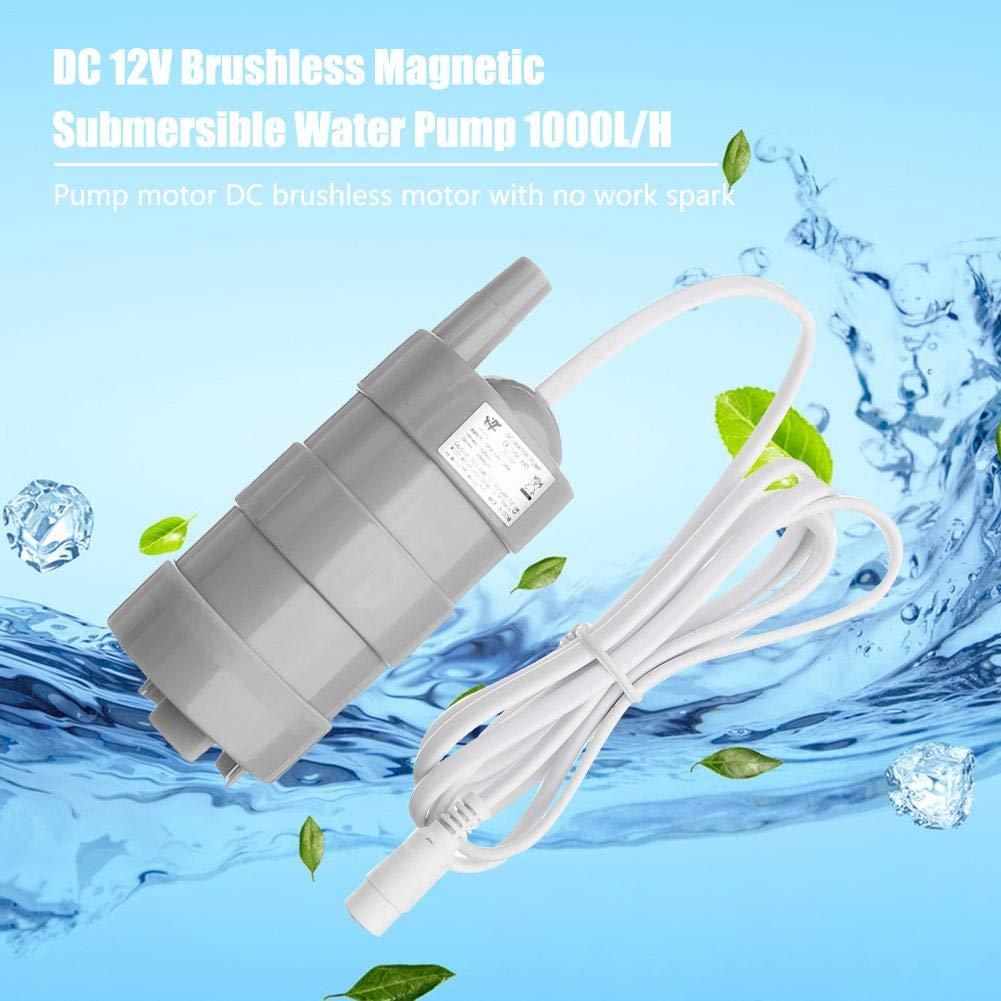 H 12V Bomba de Agua Sumergible magn/ética sin escobillas de la Bomba de Agua DC 5M para Estanque de Peces Piscina de Barco SHEWT 1000L