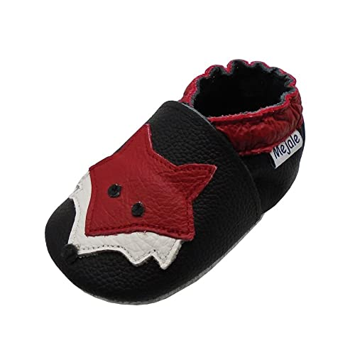 ae53bddf76ce4 Mejale Baby Shoes Soft Sole Leather Crawling Moccasins Cartoon Fox Infant  Toddler First Walker Slippers