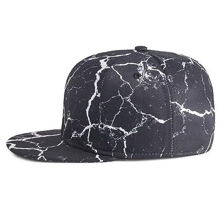 NBKLS 3D Impreso Sombrero Plano Hip-Hop Skate Hip Hop Sombrero Casual Gorra de béisbol de los Hombres y la Gorra de béisbol de Las Mujeres,Black: Amazon.es: ...