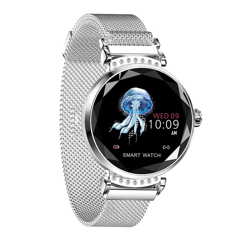 Women Smart Watch,Blood Pressure Sport Watch Smart Bracelet Watch Pedometer H2 Call Reminders Calorie Detection Pedometer (Silver)