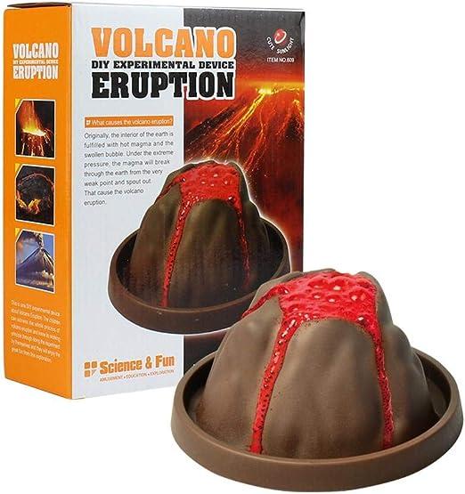 szseven Volcán para niños Kit de fabricación de Juguetes para niños Juguetes de Bricolaje Química DIY Experimento científico Hecho a Mano: Amazon.es: Hogar