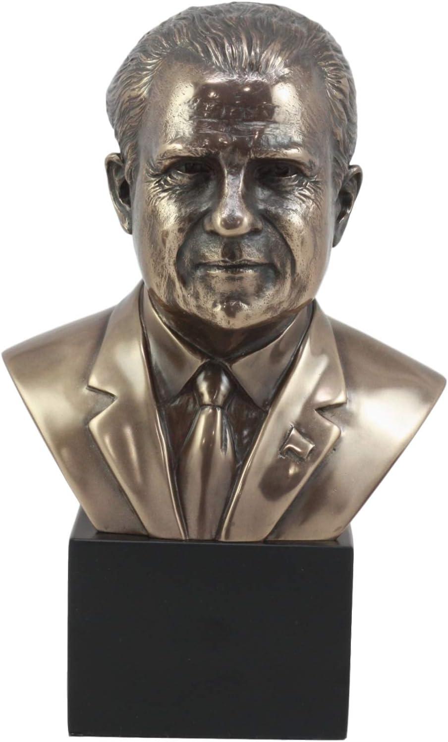 "Ebros United States President Richard Nixon Bust Figurine 9"" H Political Memorabilia Statue"