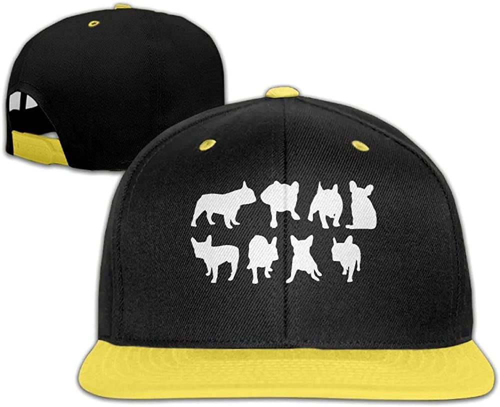 Youth Boys/&Girls French Bulldog Silhouette-1 Baseball Cap Snapback Adjustable Cap