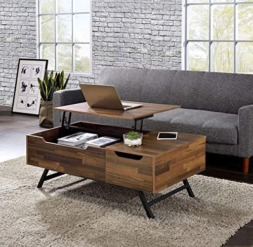 Editors' Choice: MTFY Lift Top Coffee Table Adjustable Modern Furniture Hidden Storage Compartment