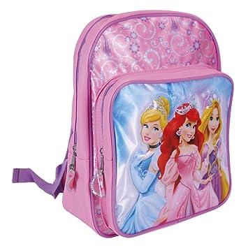 82e10cffdc9 Mochila para Niña Princesas Disney - Bolso Escolar con Bolsillo Frontal con  Estampado Cenicienta Rapunzel y