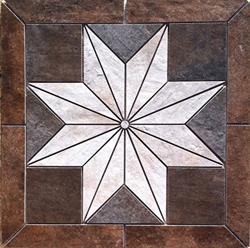"22 1/4"" X 22 1/4"" Daltile Cotto Contempo Porcelain Tile Medallion"